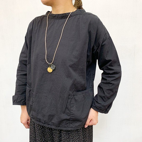 クレドラン CLEDRAN アパカバール? 別注(ACCENT) LARGE PLATE NECKLACE (CL-1543) (BLACK)|apakabar-style|02
