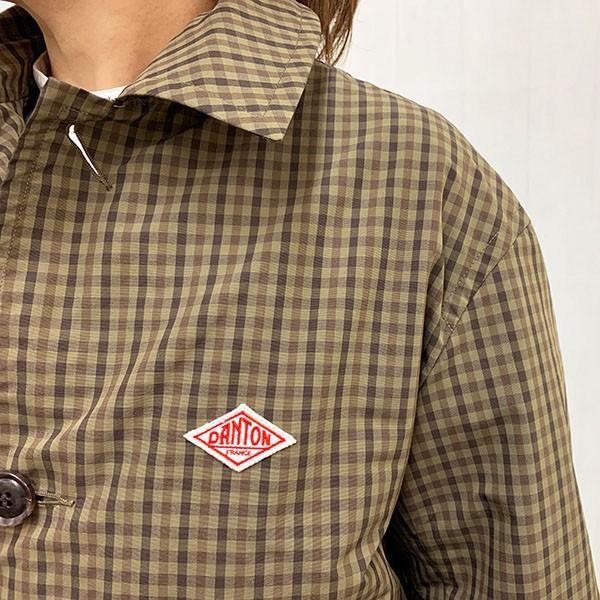 ダントン DANTON (Ladies) ナイロン タフタ チェック コート (JD-8642NPL) (全2色)|apakabar-style|11