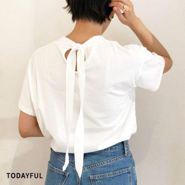 SALE 20%OFF トゥデイフル TODAYFUL レディース Neck Tie T-shirts ネック タイ Tシャツ 12010626  (全2色) 2020春夏 新作:ネコポス対応 apakabar-style