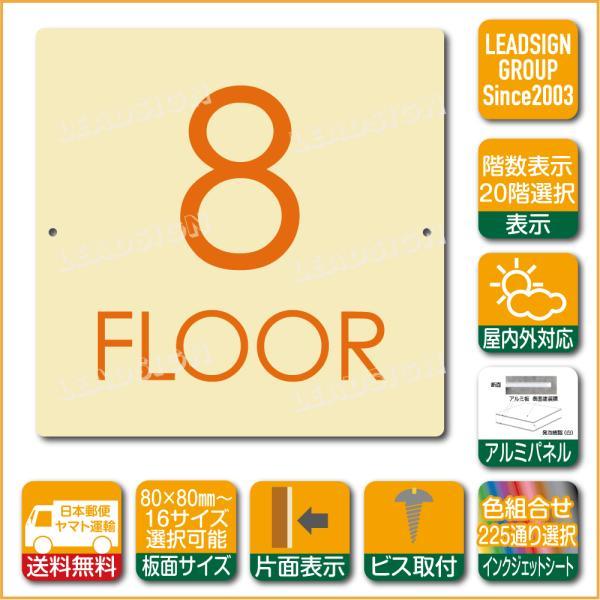 階数表示板 当階階段 階数 表示 アルミパネル サイン プレート 印刷付 c1 デザイン ビス穴有り 安全標識 看板 DIY 建築 建設