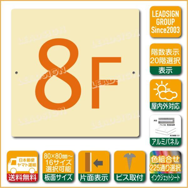 階数表示板 当階階段 階数 表示 アルミパネル サイン プレート 印刷付 d2 デザイン ビス穴有り 安全標識 看板 DIY 建築 建設