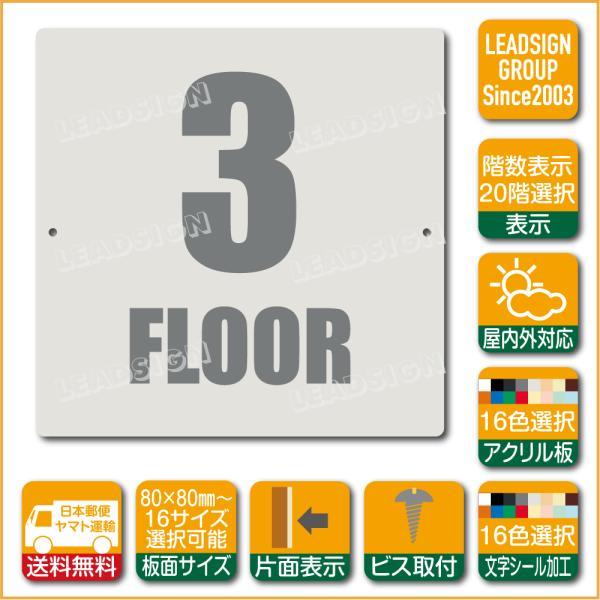 階数表示板 当階階段 アクリル サイン プレート カッティング シート 切文字貼り 階数 表示 a1 デザイン ビス穴有り 安全標識 看板 DIY 建築 建設
