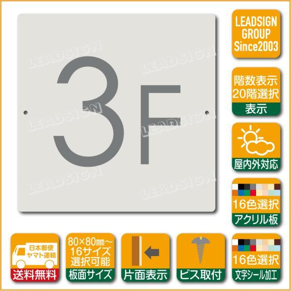 階数表示板 当階階段 アクリル サイン プレート カッティング シート 切文字貼り 階数 表示 c2 デザイン ビス穴有り 安全標識 看板 DIY 建築 建設
