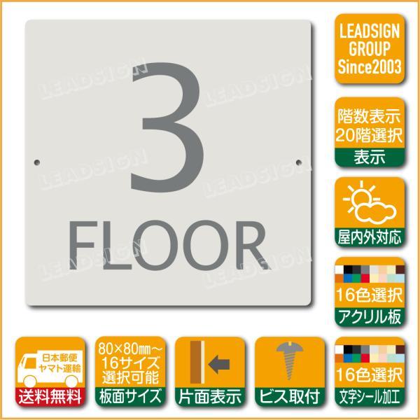 階数表示板 当階階段 アクリル サイン プレート カッティング シート 切文字貼り 階数 表示 d1 デザイン ビス穴有り 安全標識 看板 DIY 建築 建設