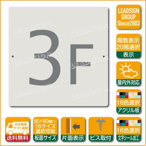 階数表示板 当階階段 アクリル サイン プレート カッティング シート 切文字貼り 階数 表示 d2 デザイン ビス穴有り 安全標識 看板 DIY 建築 建設