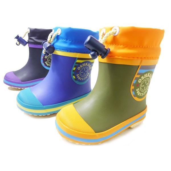 c10eb593c5974 オシュコシュ ラバーブーツ OSHKOSH OSK WB144R 男の子 冬用 レインブーツ スノーブーツ 子供用長靴 ...