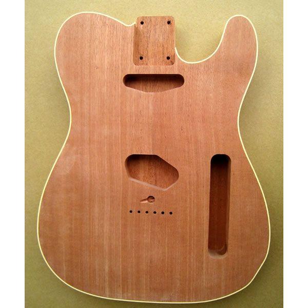 HoscoエレキギターボディーテレキャスタータイプBD-02TC-BDマホガニー2P未塗装