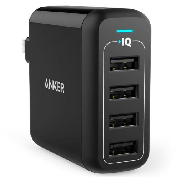Anker PowerPort 4  40W 4ポート USB急速充電器 ブラック|appbankstore