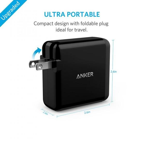 Anker PowerPort 4  40W 4ポート USB急速充電器 ブラック|appbankstore|05