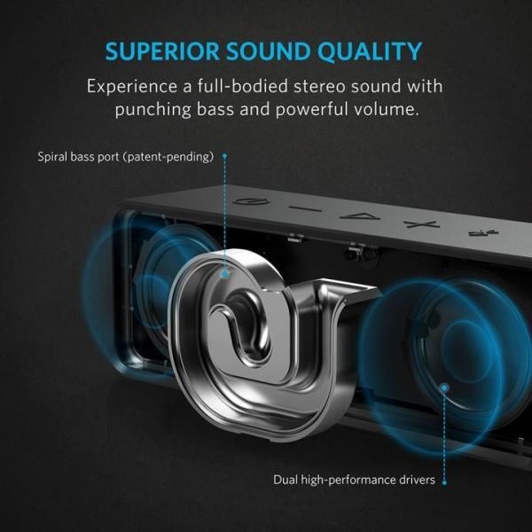 Anker SoundCore Bluetoothスピーカー ポータブル ブラック(6月30日入荷予定)|appbankstore|03