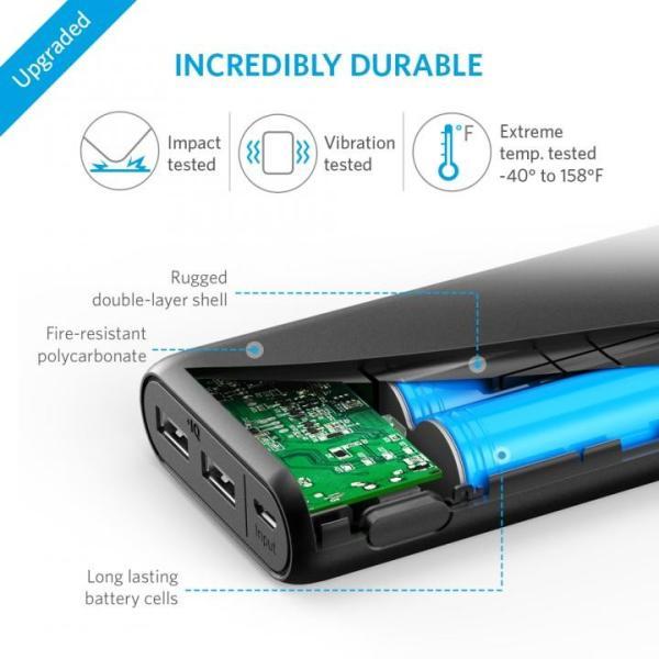 [20100mAh]Anker PowerCore 2ポート4.8A出力 モバイルバッテリー ブラック appbankstore 04