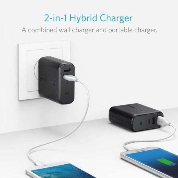 モバイルバッテリー Anker PowerCore Fusion 5000 USB急速充電器 ブラック|appbankstore|02