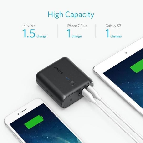 モバイルバッテリー Anker PowerCore Fusion 5000 USB急速充電器 ブラック|appbankstore|03