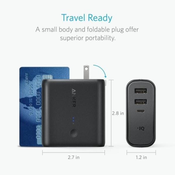 モバイルバッテリー Anker PowerCore Fusion 5000 USB急速充電器 ブラック|appbankstore|04