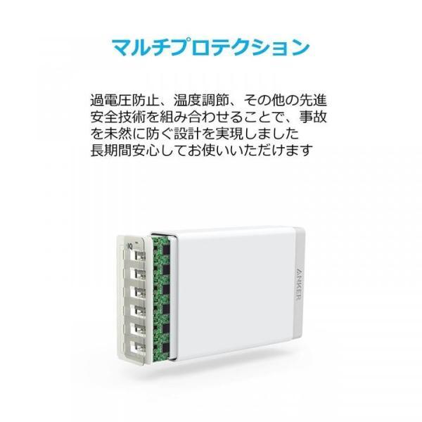 Anker PowerPort 6 6ポートUSB急速充電器 ホワイト appbankstore 06