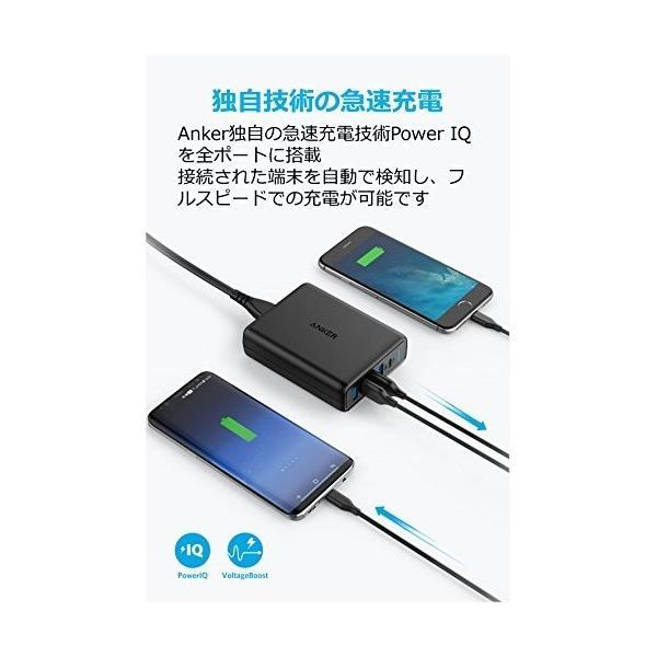 Anker PowerPort I PD - 1ポート PD & 4ポート PowerIQ ブラック|appbankstore|06