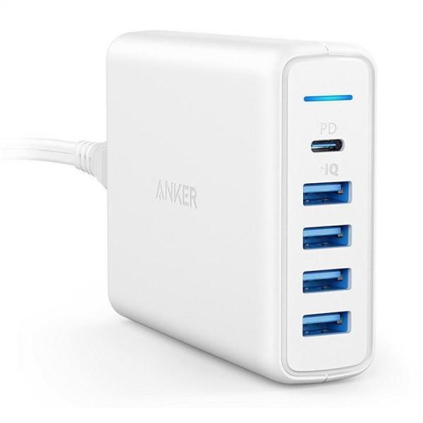 Anker PowerPort I PD - 1ポート PD & 4ポート PowerIQ ホワイト appbankstore