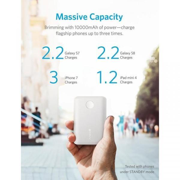 [10000mAh]Anker PowerCore II 10000 PowerIQ 2.0 モバイルバッテリー ホワイト|appbankstore|03