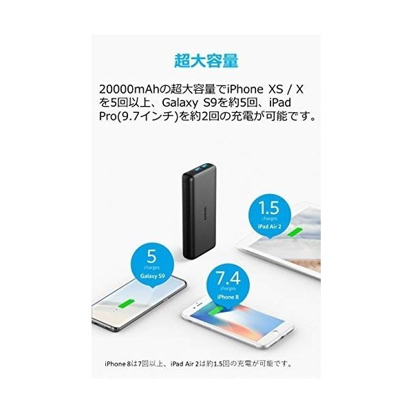 Anker PowerCore Lite 20000 モバイルバッテリー(9月8日入荷予定)|appbankstore|03