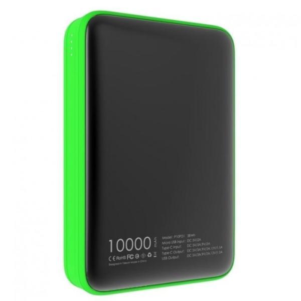 Fast Charge mini 10000 Type-C PD・QC3.0搭載モバイルバッテリー ブラック x グリーン|appbankstore|02