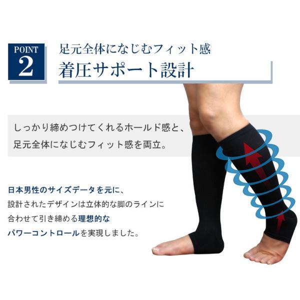 靴下 着圧ソックス オープントゥ 五本指ソックス 送料無料 ソックス くつ下 socks RSL|apple1013|05