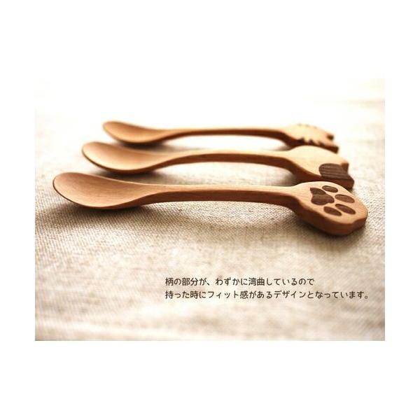 スプーン 木製 猫雑貨 Mioシリーズ インドネシア製 ねこ好き ねこカトラリー キッチンにゃんこ メール便可|applemint-zakka2|02