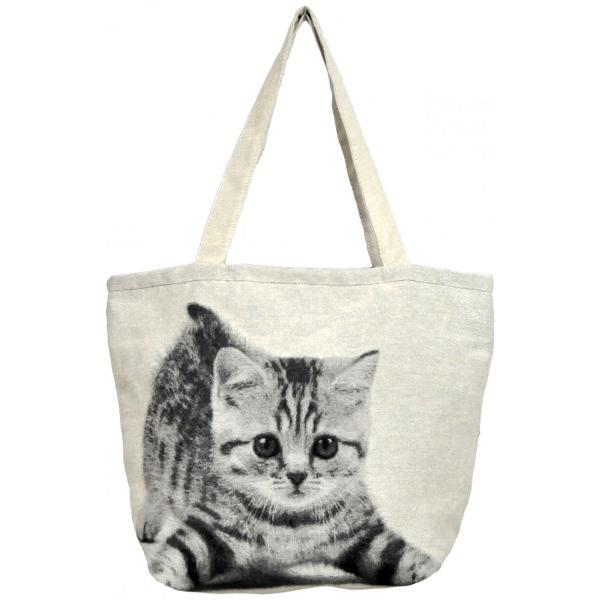 トートバッグ 猫 A4 通勤 通学 サブバッグ ねこバッグ ジャガード織り BAG PLAYCAT 猫好き neko applemint-zakka2