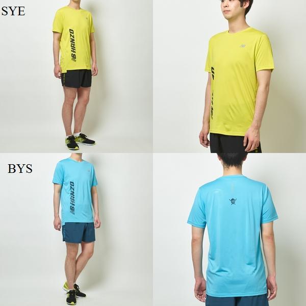 newbalance/ニューバランスメンズランニングウェアプリントショートスリーブTシャツ2019FWwnb(amt93181)