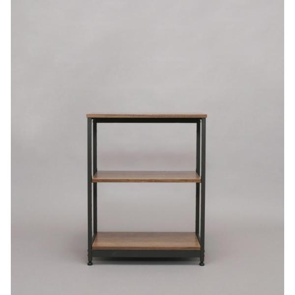 アイリスオーヤマ ラック 棚 スチールウッドラック ブラウン ×高さ80cm 幅62cm SWR-6280