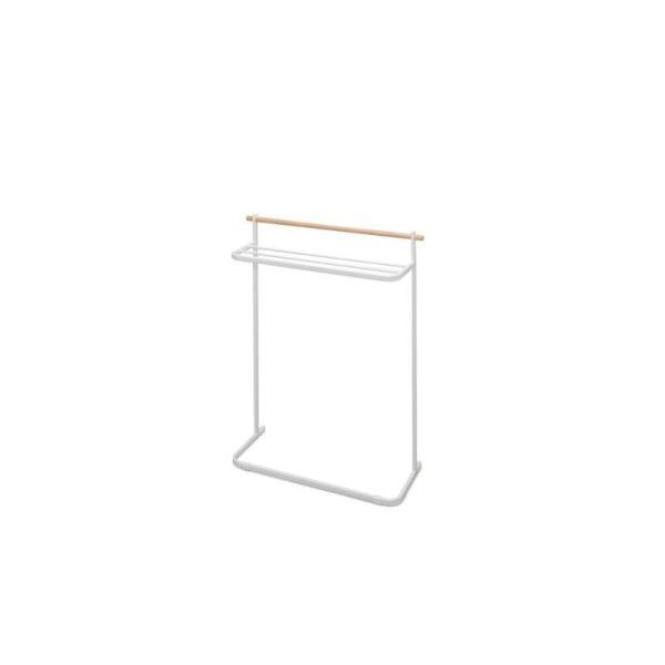 アイリスオーヤマ 物干しラック 商品サイズ(cm):幅約72.5×奥行約26.5×高さ約96.5 ナチュラル物干し NRMH-720T