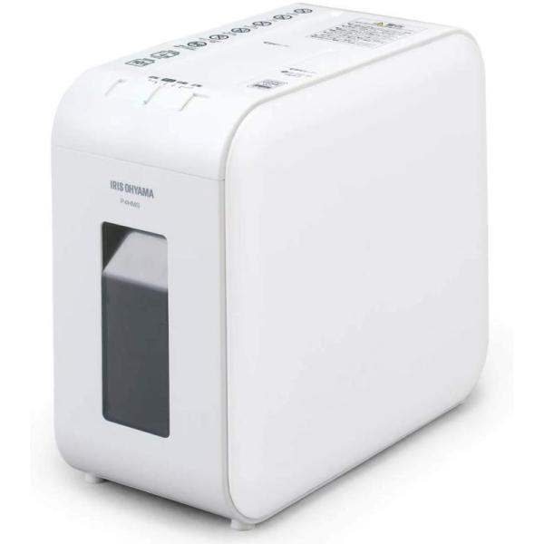 アイリスオーヤマ 静音シュレッダー 超静音 家庭用 細断枚数4枚 マイクロクロスカット P4HMS-W ホワイト