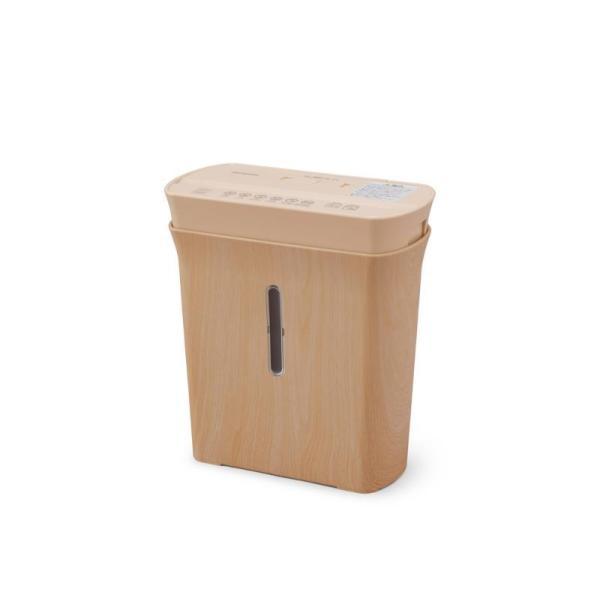 アイリスオーヤマ 細密パーソナルシュレッダー 家庭用 マイクロクロスカット ダストボックス8.9L A4/120枚収容 P3GMD-C ベージュ