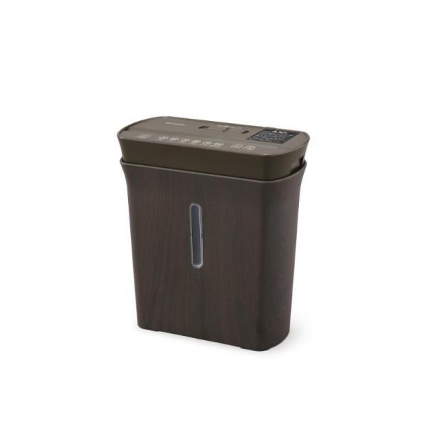 アイリスオーヤマ 細密パーソナルシュレッダー 家庭用 マイクロクロスカット ダストボックス8.9L A4/120枚収容 P3GMD-T ブラウン