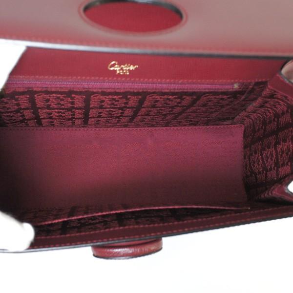 Cartier カルティエ マストライン ケリー型ハンドバッグ ボルドー レザー 【S/新品同様】 20180531MF 東発 20129186