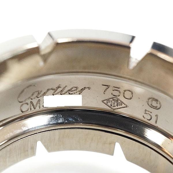 【中古S/新品同様】CARTIER カルティエ タンクフランセーズ  LM K18WG リング・指輪 51/11.5号   20170842
