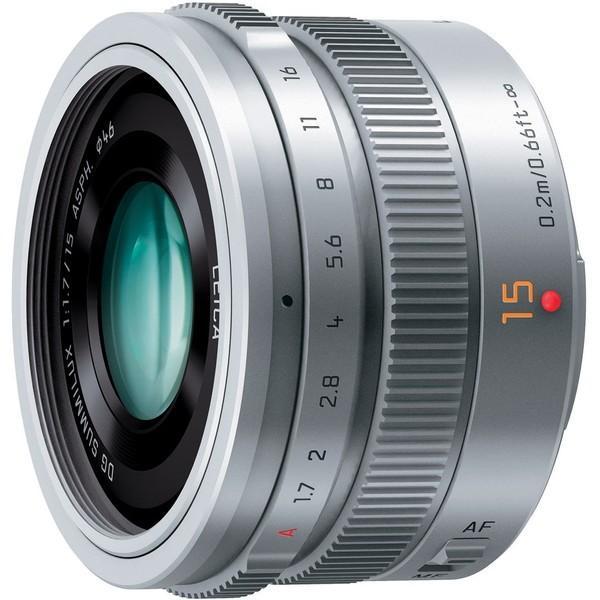 PANASONIC H-X015-S シルバー LEICA DG SUMMILUX 15mm/F1.7 ASPH. 交換レンズ マイクロフォーサーズ