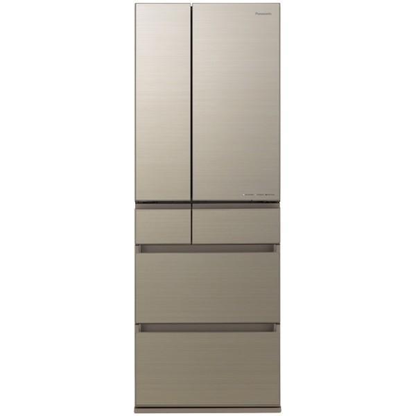 パナソニック冷蔵庫(500L・フレンチドア・幅65cm)NR-F506HPX-Nアルベロゴールド木目調デザイン大容量大型家族省エ
