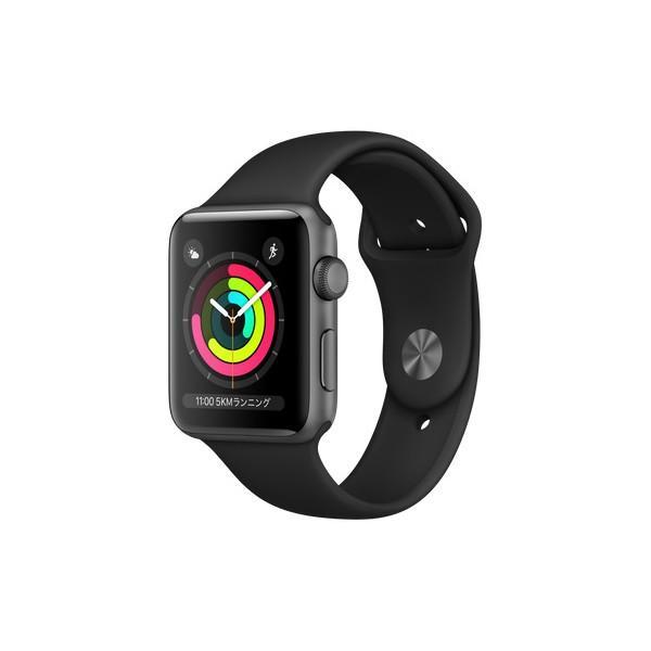 APPLE MTF32J/A ブラックスポーツバンド Series 3 GPSモデル 42mm Apple Watch