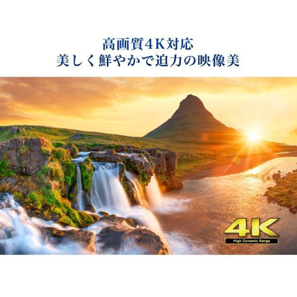 テレビ TV 65型 65インチ 4K対応 HDR対応 1, 000日保証 地デジ・BS・CS 外付けHDD録画 液晶テレビ maxzen JU65SK04 4K|aprice|06