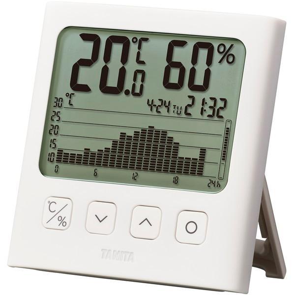 タニタ TANITA デジタル温湿度計 グラフ付き TT-580-WH 白 ホワイト 熱中症対策 インフルエンザ対策 かんたん操作 ペット 植物