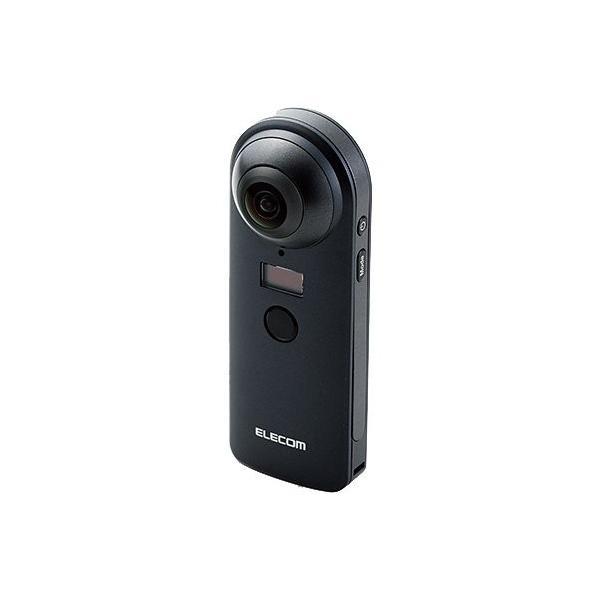 ELECOM OCAM-VRW01BK ブラック 360度カメラ 4K スタンドアローンタイプ オムニショット