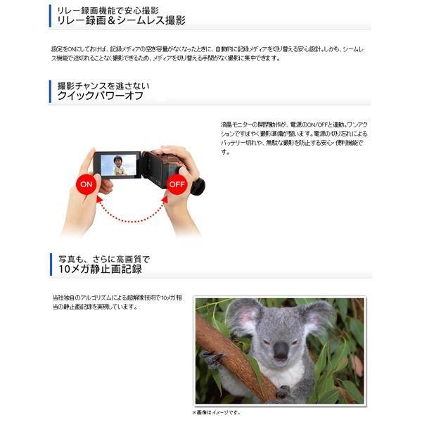 JVC (ビクター/VICTOR) ビデオカメラ 32GB 大容量バッテリー 小型 ハイビジョンメモリームービー Everio フルハイビジョン ブラウン GZ-F100-T|aprice|12