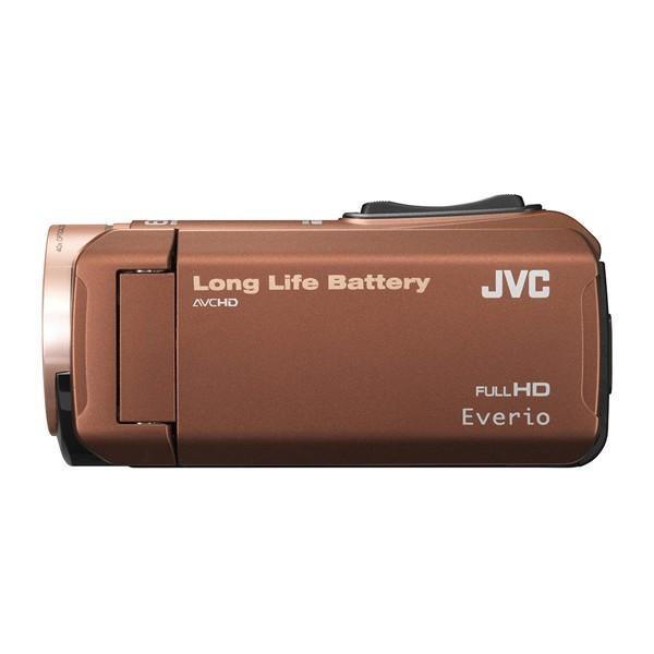 JVC (ビクター/VICTOR) ビデオカメラ 32GB 大容量バッテリー 小型 ハイビジョンメモリームービー Everio フルハイビジョン ブラウン GZ-F100-T|aprice|03