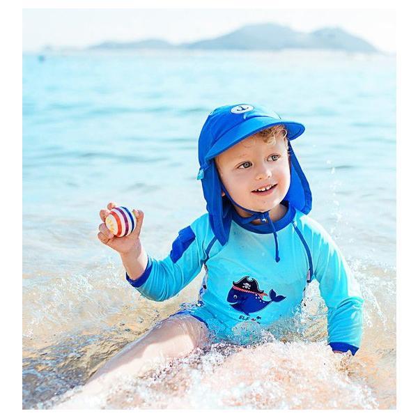 ベビー インポート 水着 Elly La Fripouille くじら ロンパース型 キッズ水着 子供水着 70 80 90 ベビースイミング Baby Kids ワンピース水着|apricos|04