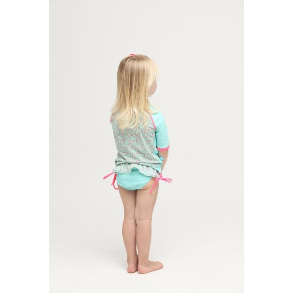 ベビー インポート 水着 Elly La Fripouille 秘密の花園 ラッシュガード&パンツ水着セット 子供水着 ベビースイミング Baby Kids チェリー柄|apricos|04