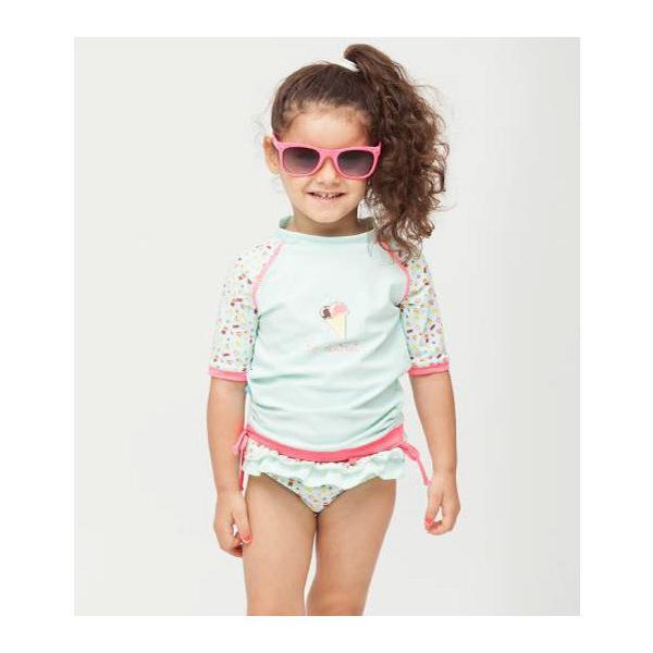 ベビー インポート 水着 Elly La Fripouille アイスクリーム ラッシュガード&パンツ水着セット 子供水着 ベビースイミング Baby Kids セパレート|apricos|03