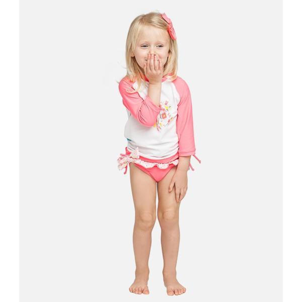 ベビー インポート 水着 Elly La Fripouille プリンセス ラッシュガード&パンツ水着セット 子供水着 ベビースイミング Baby Kids セパレート apricos 03