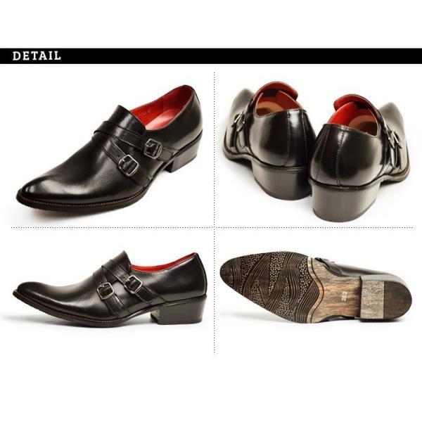 ビジネスシューズ 革靴 メンズ 2足セット SET 靴 メンズ ロングノーズ フォーマル ベルト モンクストラップ スリッポン 福袋 紳士靴 ビジネスシューズ|apricot-town|14