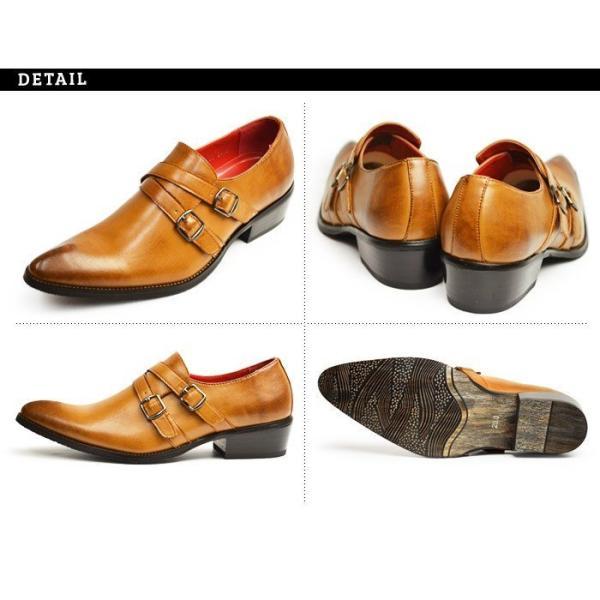 ビジネスシューズ 革靴 メンズ 2足セット SET 靴 メンズ ロングノーズ フォーマル ベルト モンクストラップ スリッポン 福袋 紳士靴 ビジネスシューズ|apricot-town|15