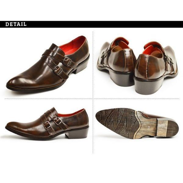 ビジネスシューズ 革靴 メンズ 2足セット SET 靴 メンズ ロングノーズ フォーマル ベルト モンクストラップ スリッポン 福袋 紳士靴 ビジネスシューズ|apricot-town|16